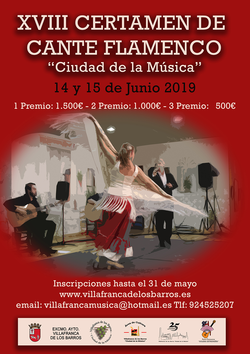 cartel certamen de flamenco web